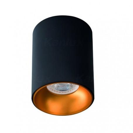 KANLUX 27571 - Spot sailli, noir doré, GU10