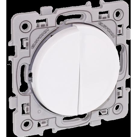 Eurohm 60211 - Double Poussoir 10A Blanc Square