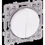 Eurohm 60216 - Va et vient + Bouton poussoir Blanc Square