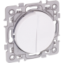 EUROHM 60216 - Va et vient + Bouton poussoir, Blanc, Square