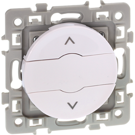 Eurohm 60223 - Interrupteur Volet Roulant 3 boutons Blanc, Square