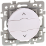 EUROHM 60223 - Interrupteur Volet Roulant, 3 boutons, Blanc, Square