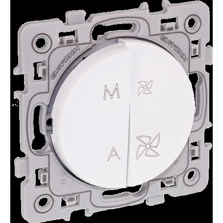 EUROHM 60225 - Commande VMC, 2 vitesses, Blanc, Square