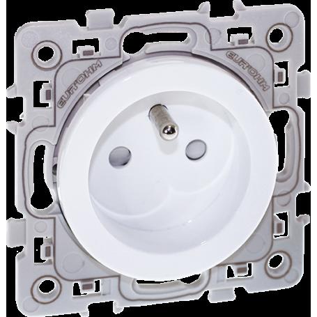 EUROHM 60260 - Prise, 2P+T, Blanc, Square