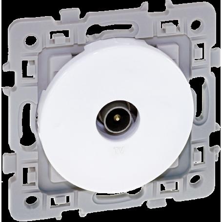 Eurohm 60264 - Prise TV, Blanc, Square
