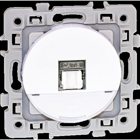 Eurohm 60272 - Prise RJ 45 CAT6 grade3 multimedia STP, Blanc, Square