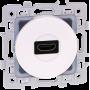 EUROHM 60280 - Prise HDMI, Blanc, Square