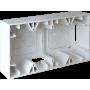 EUROHM 60281 - Cadre saillie, 2 postes, Blanc, Square