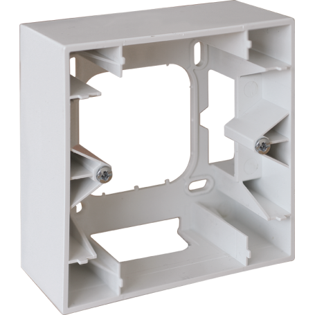EUROHM 60291 - Cadre saillie, 1 poste, Blanc, Square