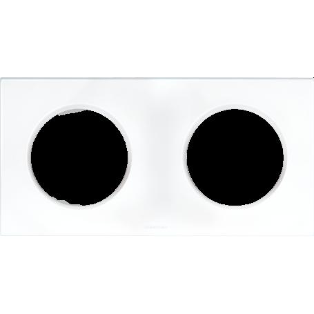 Eurohm 60297 - Plaque Blanc 2 postes, Square