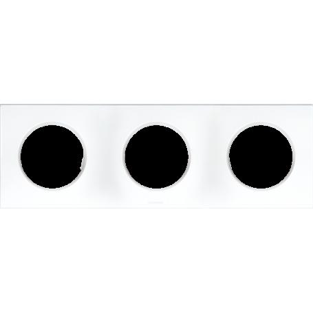 EUROHM 60298 - Plaque, 3 postes, Blanc, Square