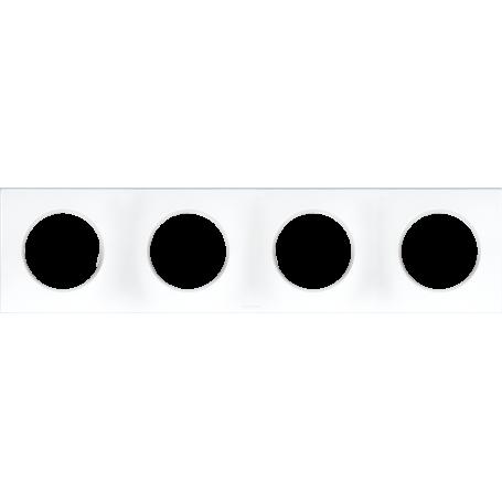 Eurohm 60299 - Plaque 4 postes, Blanc ,Square