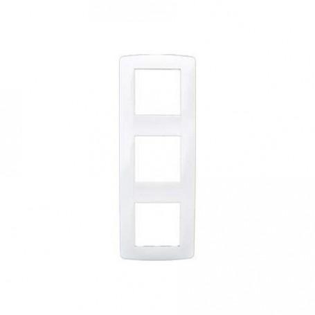 EUROHM 61898 - Plaque Esprit - 3 Postes, Blanc, Entraxe 71mm