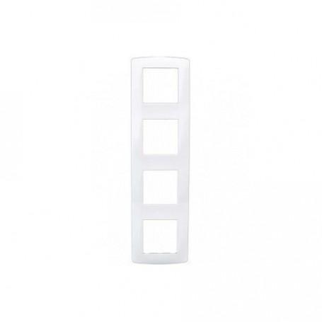 EUROHM 61899 - Plaque, 4 Postes, Blanc, Esprit