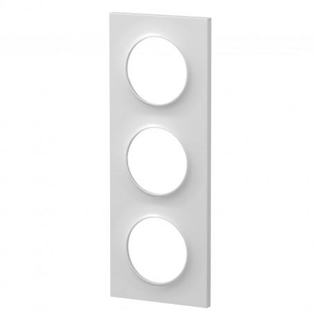 SCHNEIDER S520706 - Plaque 3 poste blanc, Odace Styl