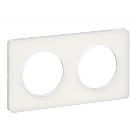 SCHNEIDER S520804R - Plaque, Translucide Blanc, 2P, horiz./vert. entraxe, Odace