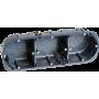 EUROHM 52056 - Boîte triple multi-matériaux prof. 40mm