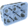 EUROHM 51020 - Boîte d'encastrement étanche à l'air 2x3P-50mm
