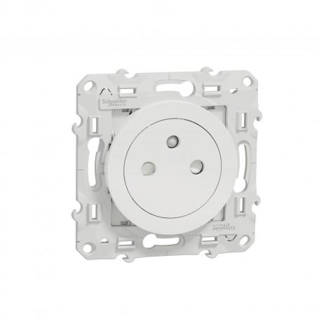 SCHNEIDER S520052 - Prise de courant, 2P+T, affleurante, blanc, Odace