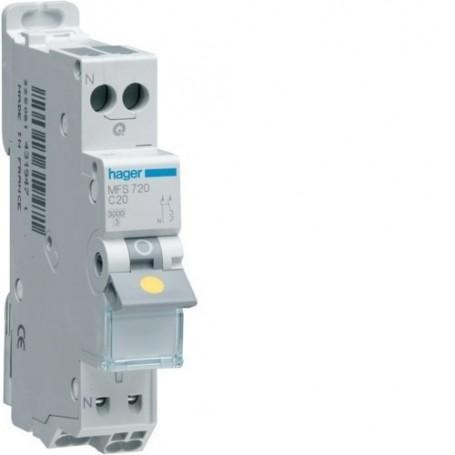 HAGER MFS710 - Disjoncteur, P+N, 10A, sans vis