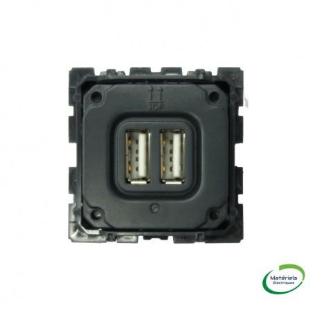 LEGRAND 067462 - Prise double, Pour chargeur USB, 1500MA, Céliane