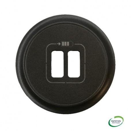 LEGRAND 067956 - Enjoliveur, Graphite, Céliane pour chargeur USB double