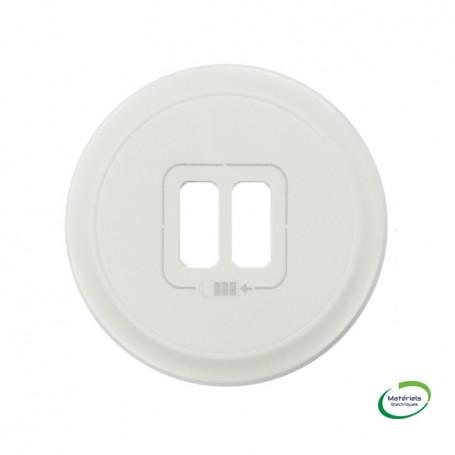 LEGRAND 068256 - Enjoliveur, Blanc, Céliane, prise double pour chargeur USB