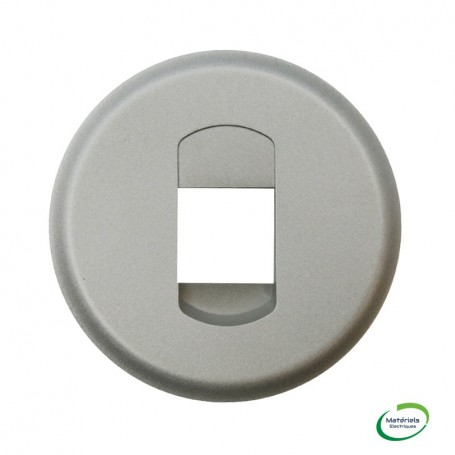 LEGRAND 068511 - Enjoliveur Céliane, Titane, Prise HP simple