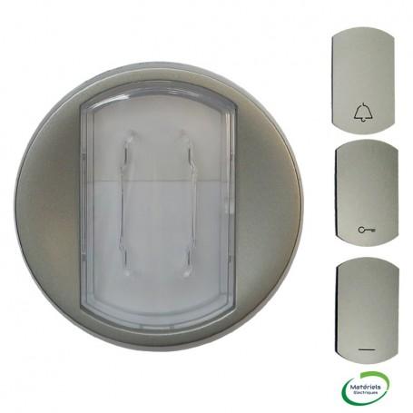 LEGRAND 068314 - Enjoliveur, Titane, Céliane V&V/Poussoir avec porte étiquette