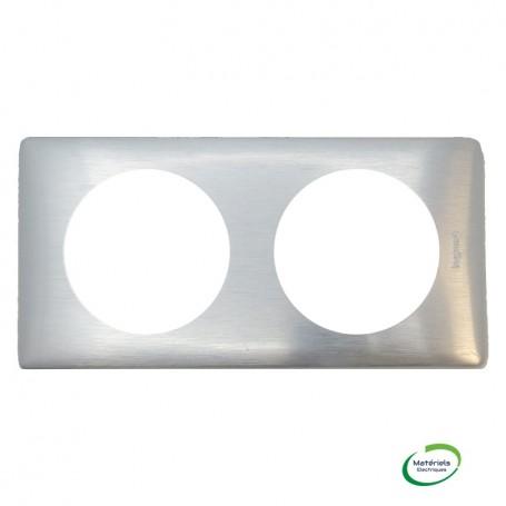 LEGRAND 068922 - Plaque, Métal, 2 poste Aluminium, Céliane