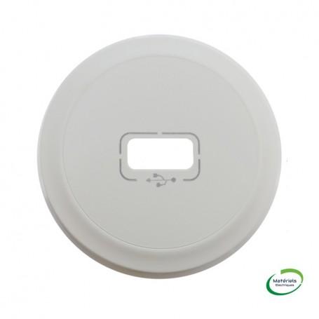 LEGRAND 068253 - Enjoliveur, Blanc, Céliane simple blanc pour prise USB