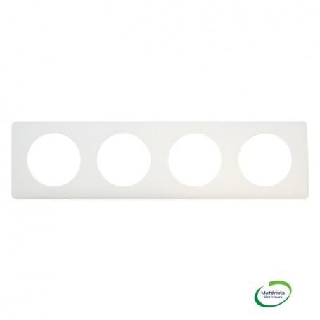 LEGRAND 066704 - Plaque, Poudré Craie, 4 postes, Céliane