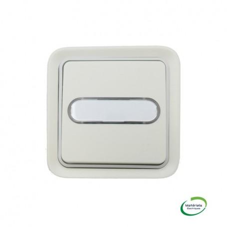 LEGRAND 069864 - Poussoir lumineux avec porte-étiquette, Plexo, Encastré, Blanc