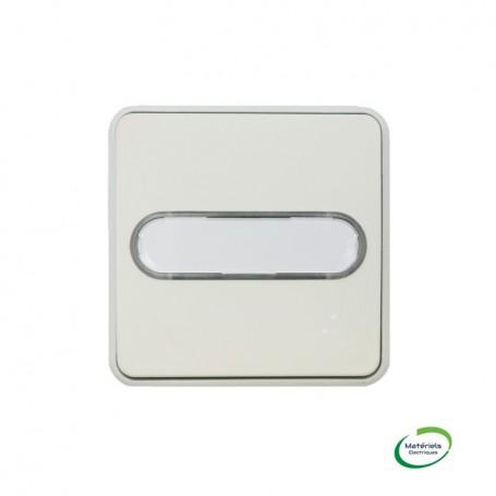 LEGRAND 069633 - Poussoir NO lumineux porte-étiquette, Plexo, Composable, Blanc