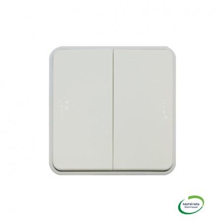 LEGRAND 069635 - Double poussoir NO+NF, Plexo, composable, Blanc
