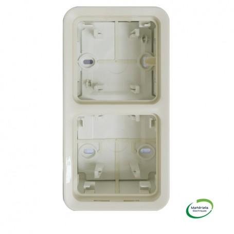 LEGRAND 069691 - Boitier à embouts, 2 postes vertical, Plexo, Composable, Blanc