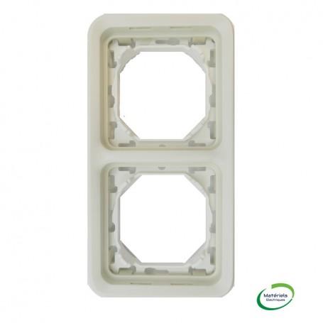 LEGRAND 069696 - Support plaque, 2 postes vertical, Plexo, Composable, Blanc
