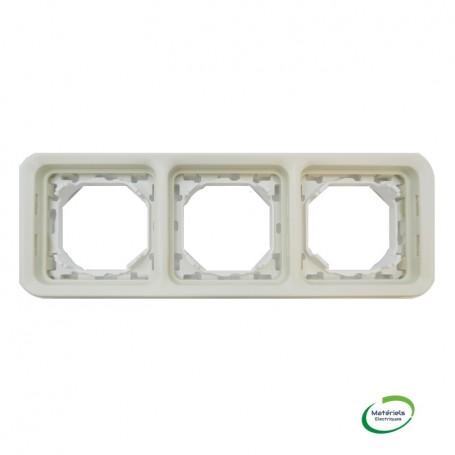 LEGRAND 069698 - Support plaque, 3 postes, horizontaux, Plexo, Composable, Blanc