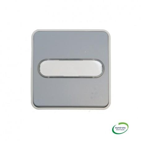 LEGRAND 069543 - Poussoir NO lumineux porte-étiquette, Plexo, Composable, Gris