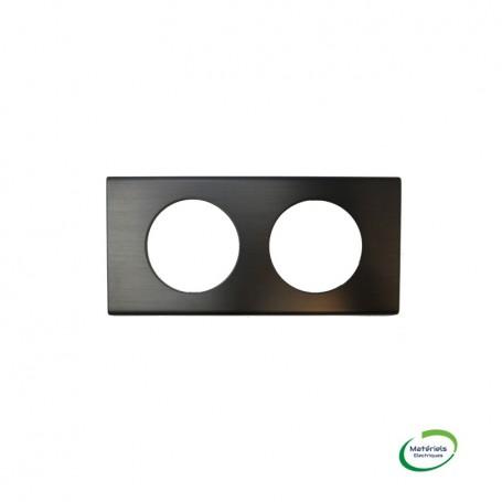 LEGRAND 069032 - Plaque, 2 postes, Black Nickel, Céliane, Legrand