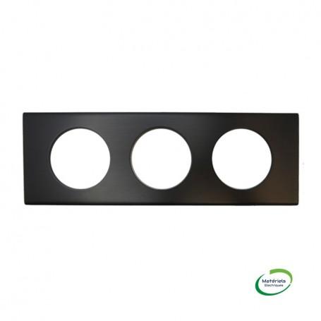 LEGRAND 069033 - Plaque, 3 postes, Black Nickel, Céliane, Legrand