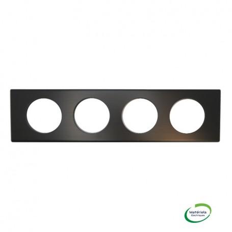 LEGRAND 069034 - Plaque, 4 postes, Black Nickel, Céliane, Legrand