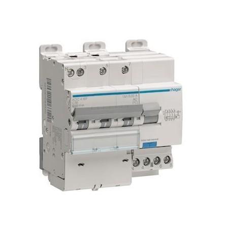 HAGER ADC410F - Disjoncteurs différentiels, 3P+N, 6-10kA, 10A, 30mA