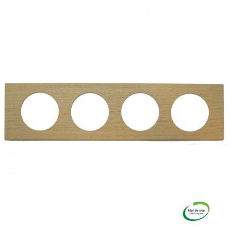 LEGRAND 069054 - Plaque, 4 postes, Chêne Blanchi, Céliane, Legrand