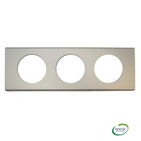 LEGRAND 069113 - Plaque, 3 postes, Nickel Velours, Céliane, Legrand