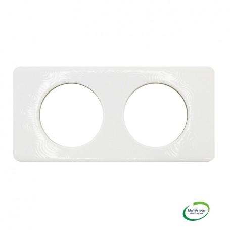 LEGRAND 069352 - Plaque Céliane, Songe, Porcelaine, 2 postes