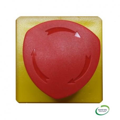 LEGRAND 076602 - Arret d'urgence 1/4 de tour, Rouge et jaune, Mosaic