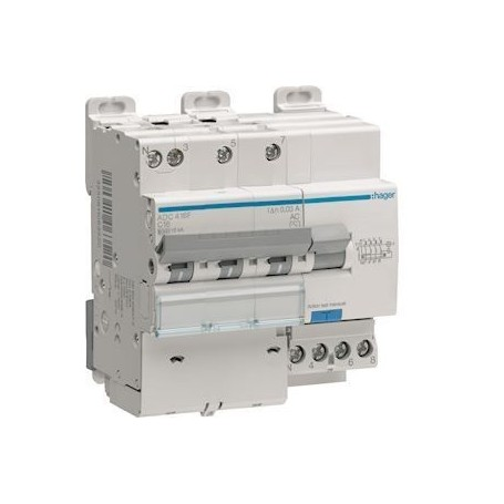 HAGER AFC416F - Disjoncteurs différentiels, 6-10kA, 16A, 300mA, type AC