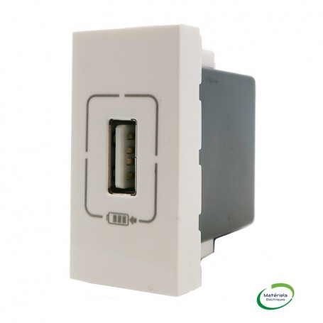 LEGRAND 077591 - Module de charge USB, 1 module, Blanc, Mosaic