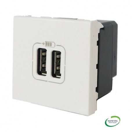 LEGRAND 077594 - Module de charge USB double, Blanc, Mosaic